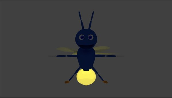 3D model cartoon firefly