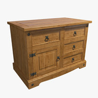 commode wood model