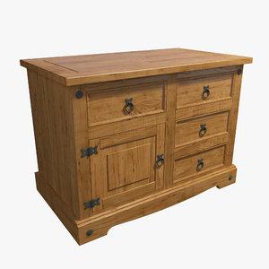commode wood model