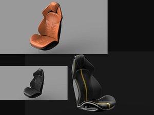 car seats 3D model