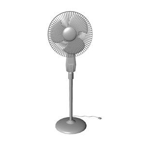 pedestal fan 3D model