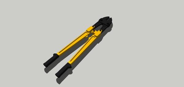 3D bolt cutter