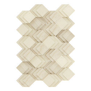 3D decorative wooden wall panel