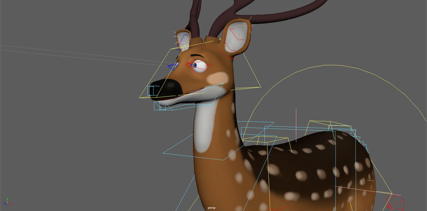 3D rig spotted deer model