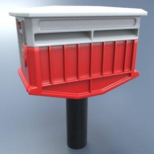 3D mailbox metallic