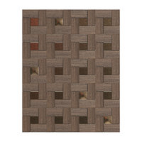 3D wood bronze wall panel model