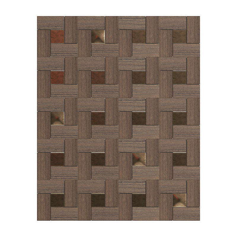 3D wood bronze wall panel model