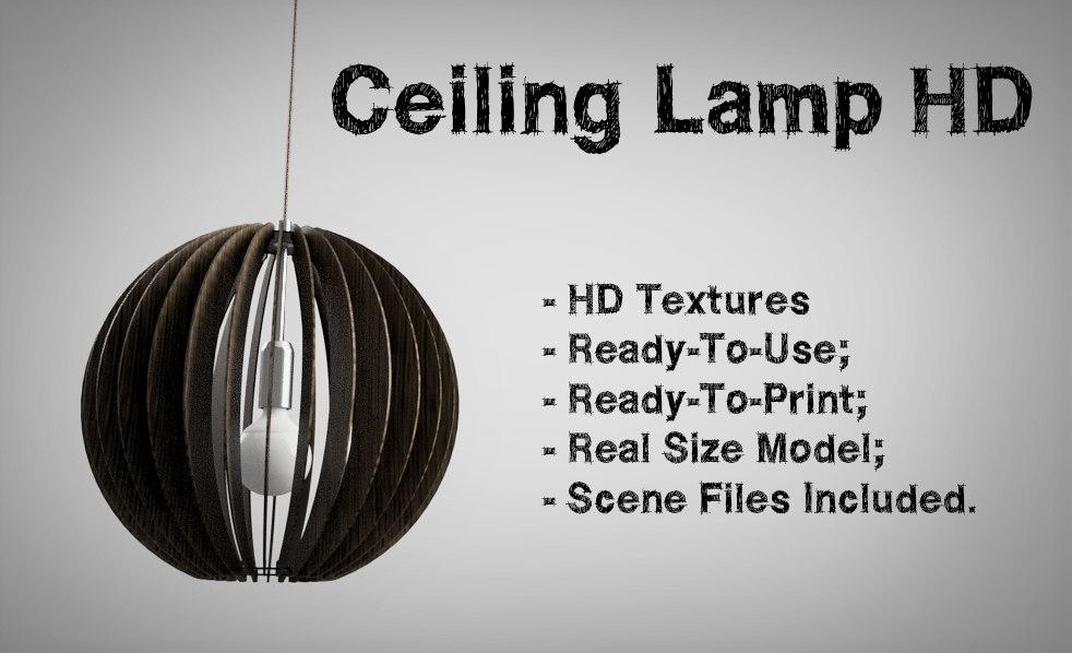 3D model ceiling lamp hd