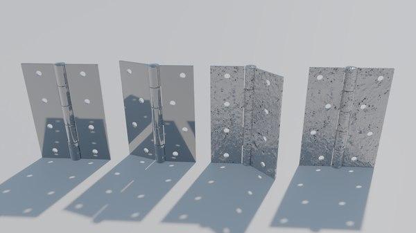 3D door hinges model