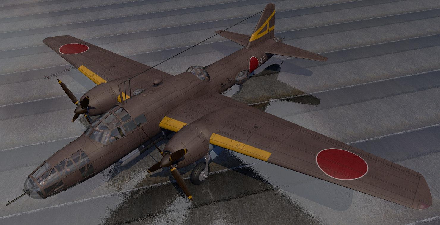 plane mitsubishi ki-67 hiryu model