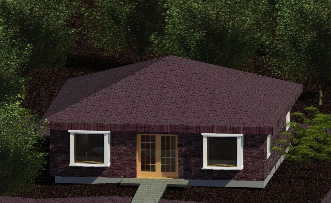 3D cabin house