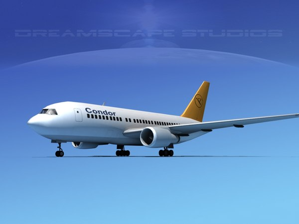 airline boeing 767 767-200er 3D model