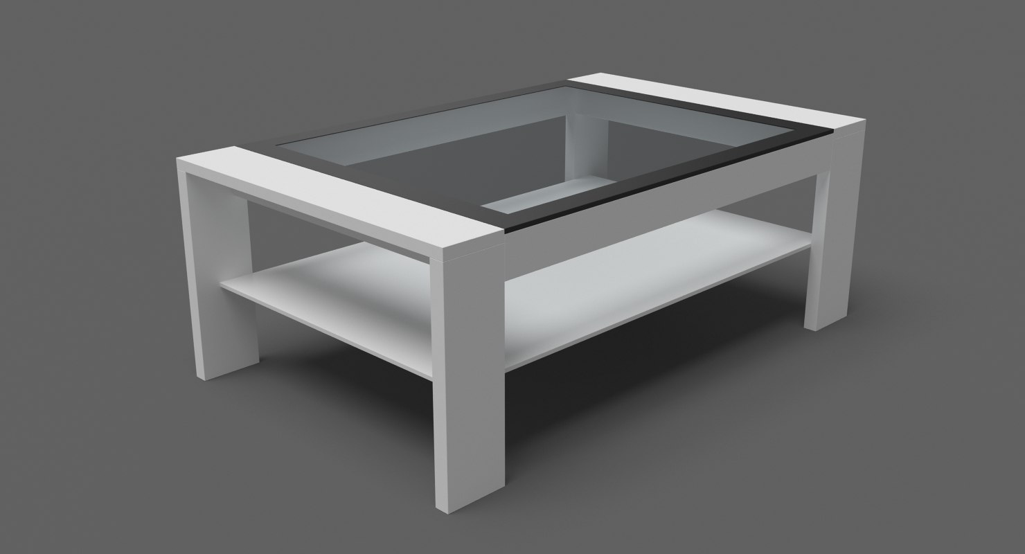 3D contempoary coffee table 03