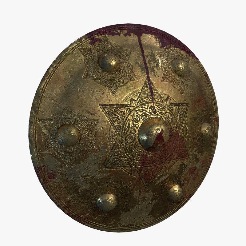 3D shield brass