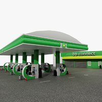 bp connect gas station model