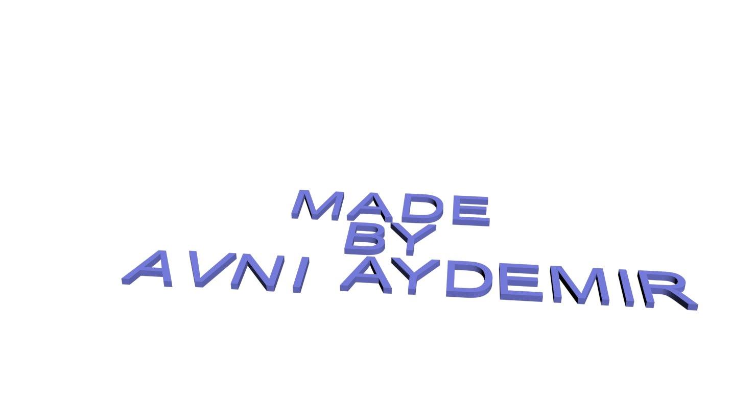 alphabet signs letters 3D model