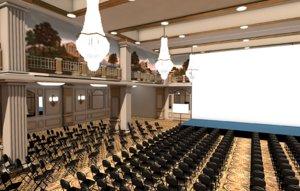 3D ballroom