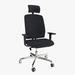 realistic office chair 4 3D