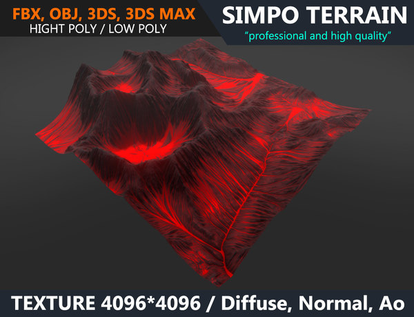 terrain volcano model