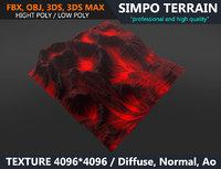 3D terrain volcano
