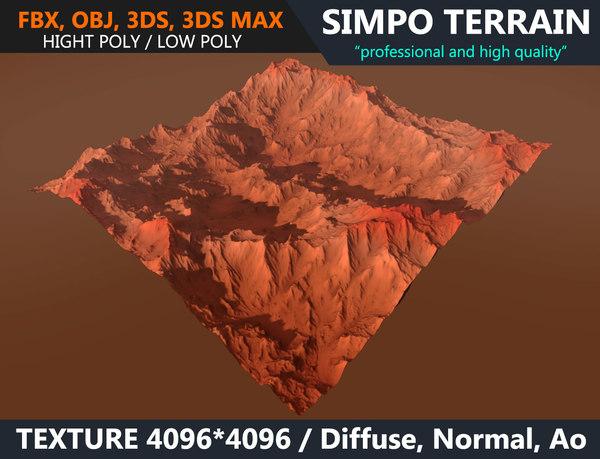 3D mars terrain