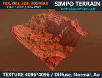 mars terrain 3D model
