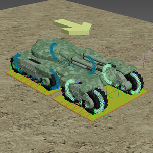 3D tank animation model