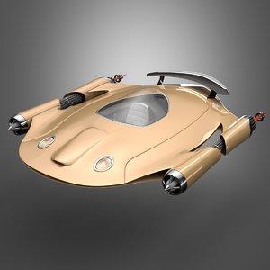 3D science fiction car concept