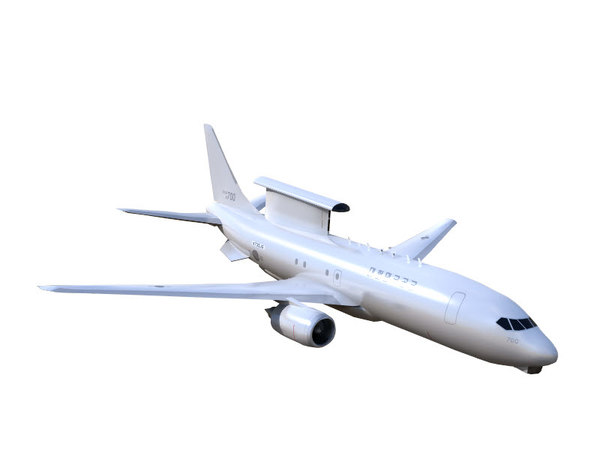 warning airplanes aircraft 3D model