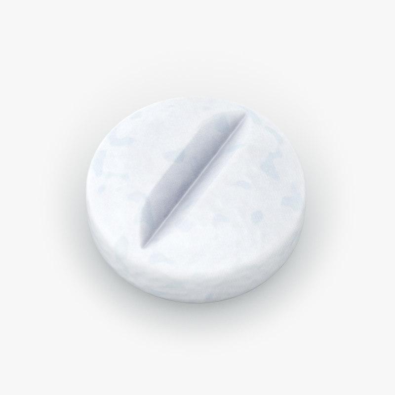 pill medication drugs 3D model