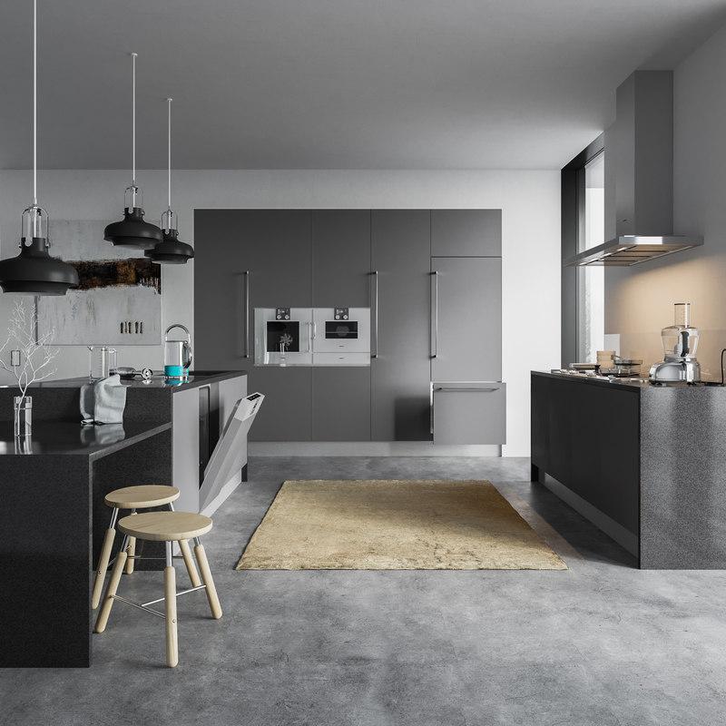 3D scene vol 3 kitchen equipment