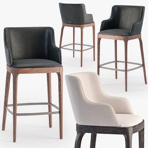 3D cattelan italia magda stool model