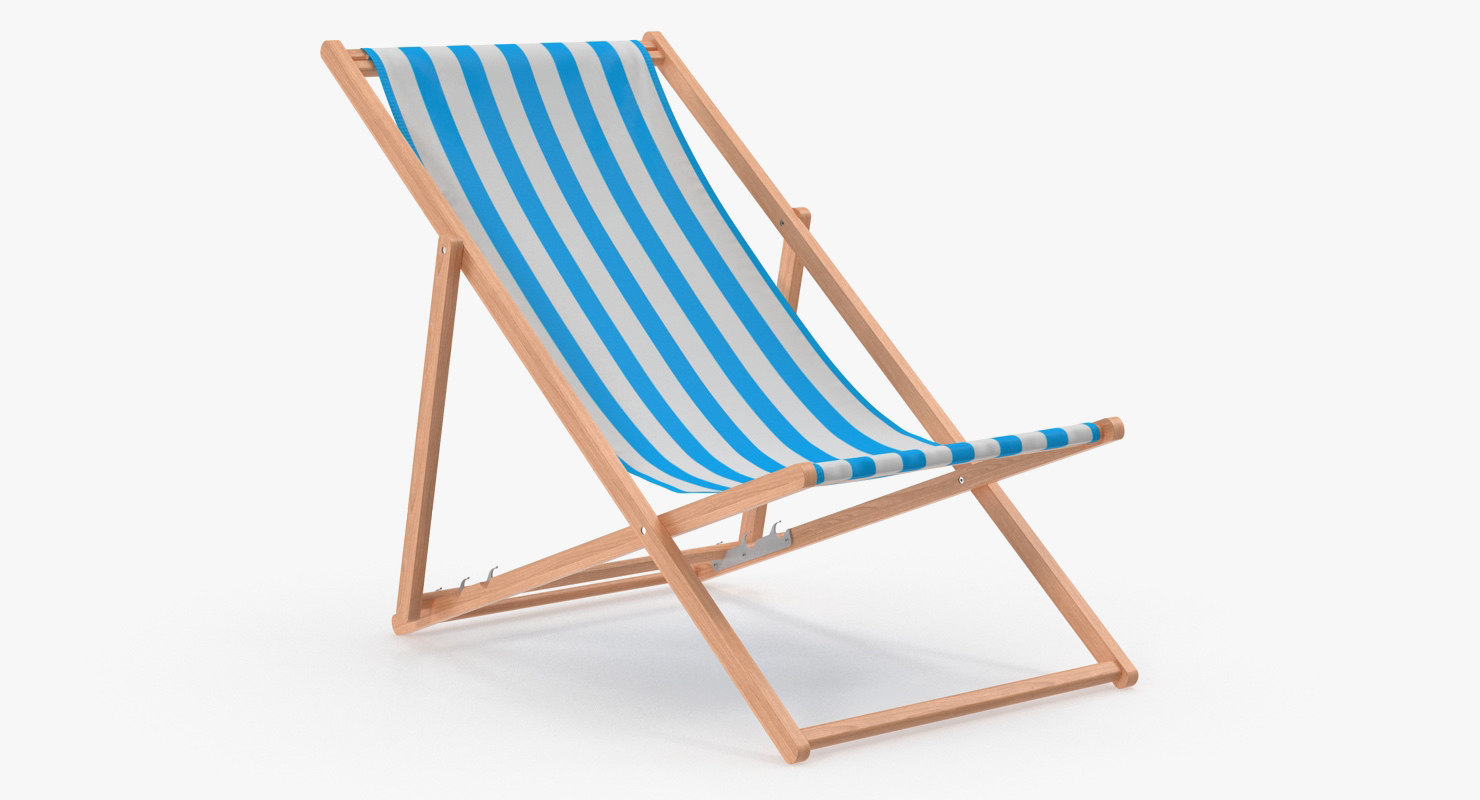 Folding Wooden Beach Chair Model
