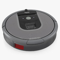 irobot roomba960 robotic vacuum cleaner 3D model