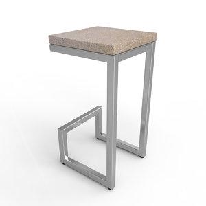 loft bar chair 3D model