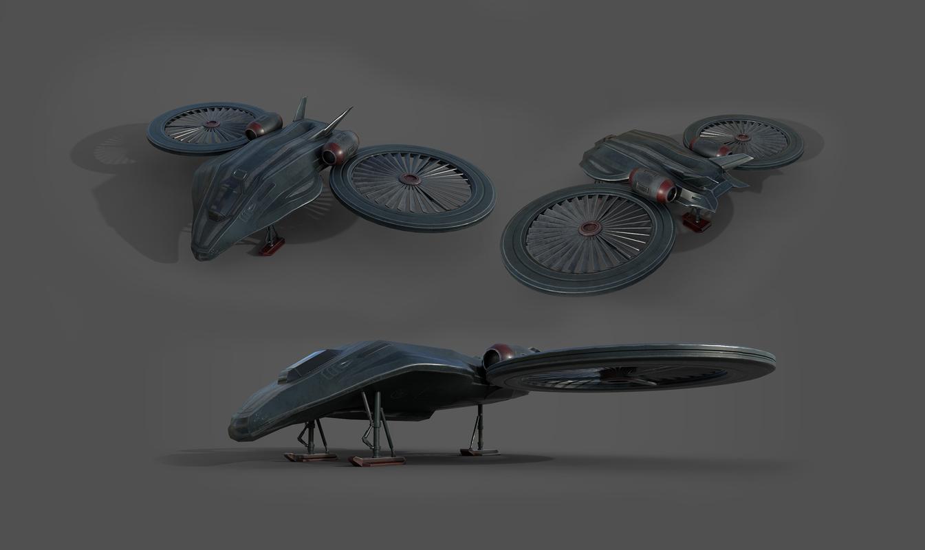 3D model aircraft cobra