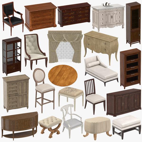 classical furniture 3D