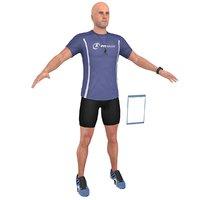 3D fitness coach model