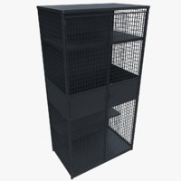 3D metal cupboard