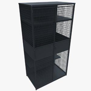 3D metal cupboard