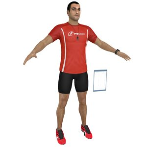 3D model fitness coach