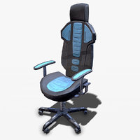 3D sci fi lab chair