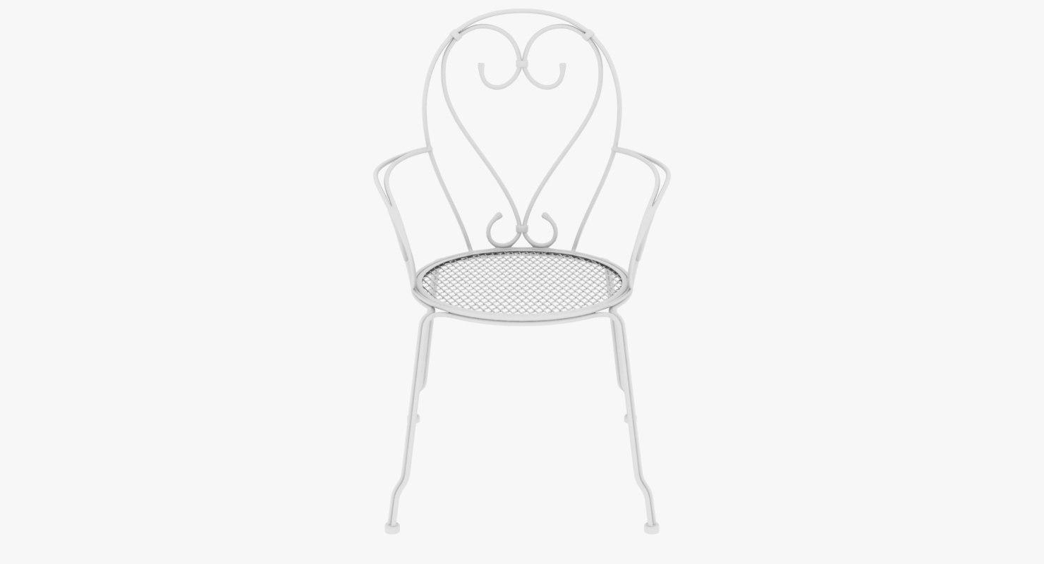 3D armchair iron model