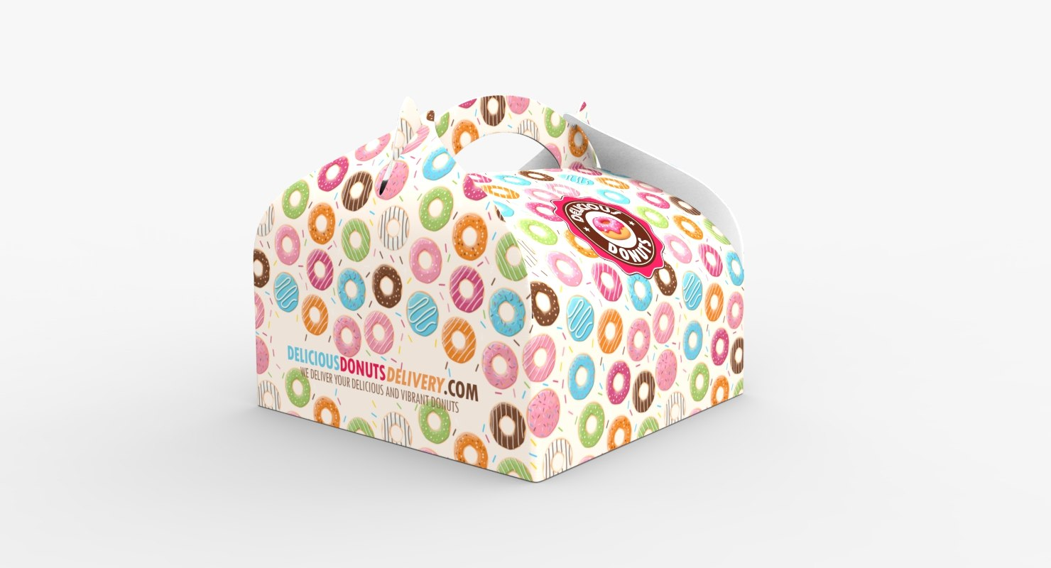3D donuts packaging box
