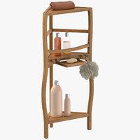 corner bath shelf accessories 3D model