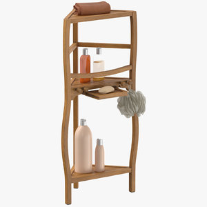 corner bath shelf accessories 3D model