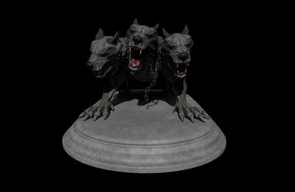 cerberus fantasy 3D model