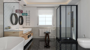 modern bathroom 2 model