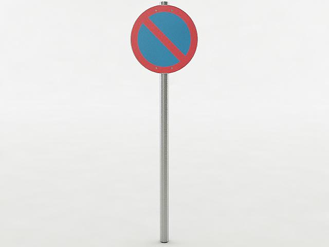 european parking sign 3D model