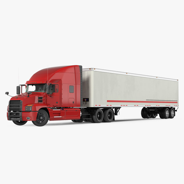 3D mack anthem truck trailer